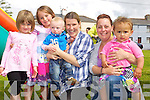 Isobel Clifford, Lily Collins, Keelan Dennehy, Mary Fitzpatrick, Mary Caydyn Molloy pictured at the childrens fun day at Kevin Barrys Villas on Friday.