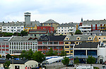 Houses and centre of coastal town of Kristiansund, Romsdal county, Norway