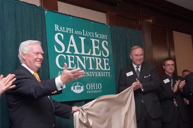 17901College of Business Celebration Honoring Ralph & Luci Schey and their naming of ?The Sales Centre at Ohio University? in Nelson Commons Thursday Oct. 19th, 2006...Howard Stevens & Glenn Corlett