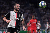 Gonzalo Higuain of Juventus <br /> Torino 01/10/2019 Juventus Stadium <br /> Football Champions League 2019//2020 <br /> Group Stage Group D <br /> Juventus - Leverkusen <br /> Photo Federico Tardito / Insidefoto