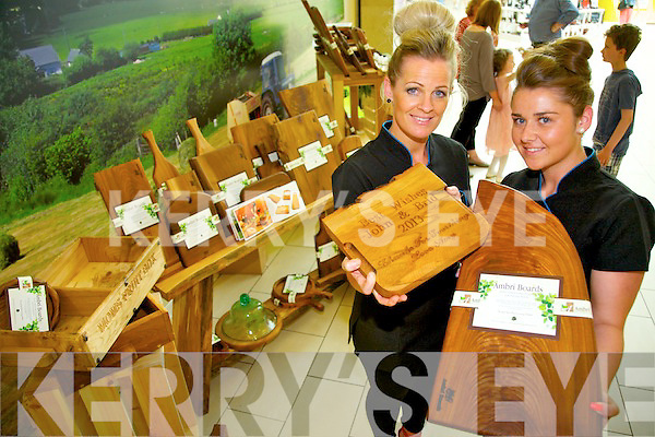 Yvonne Duggan and Shauna O'Shea from Ambrí Boards who were displaying a range of their products at the Original Kerry Artisan Crafts held in the Manor West Shopping Centre at the weekend.