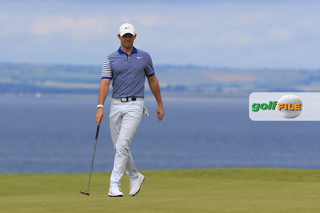 Rory McIlroy (NIR) on the 3rd during Round 4 of the Aberdeen Standard Investments Scottish Open 2019 at The Renaissance Club, North Berwick, Scotland on Sunday 14th July 2019.<br /> Picture:  Thos Caffrey / Golffile<br /> <br /> All photos usage must carry mandatory copyright credit (© Golffile   Thos Caffrey)
