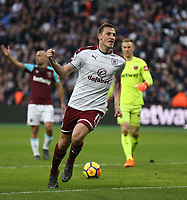 Burnley's Chris Wood celebrates scoring his side's third goal <br /> <br /> Photographer Rob Newell/CameraSport<br /> <br /> The Premier League - West Ham United v Burnley - Saturday 10th March 2018 - London Stadium - London<br /> <br /> World Copyright &not;&copy; 2018 CameraSport. All rights reserved. 43 Linden Ave. Countesthorpe. Leicester. England. LE8 5PG - Tel: +44 (0) 116 277 4147 - admin@camerasport.com - www.camerasport.com