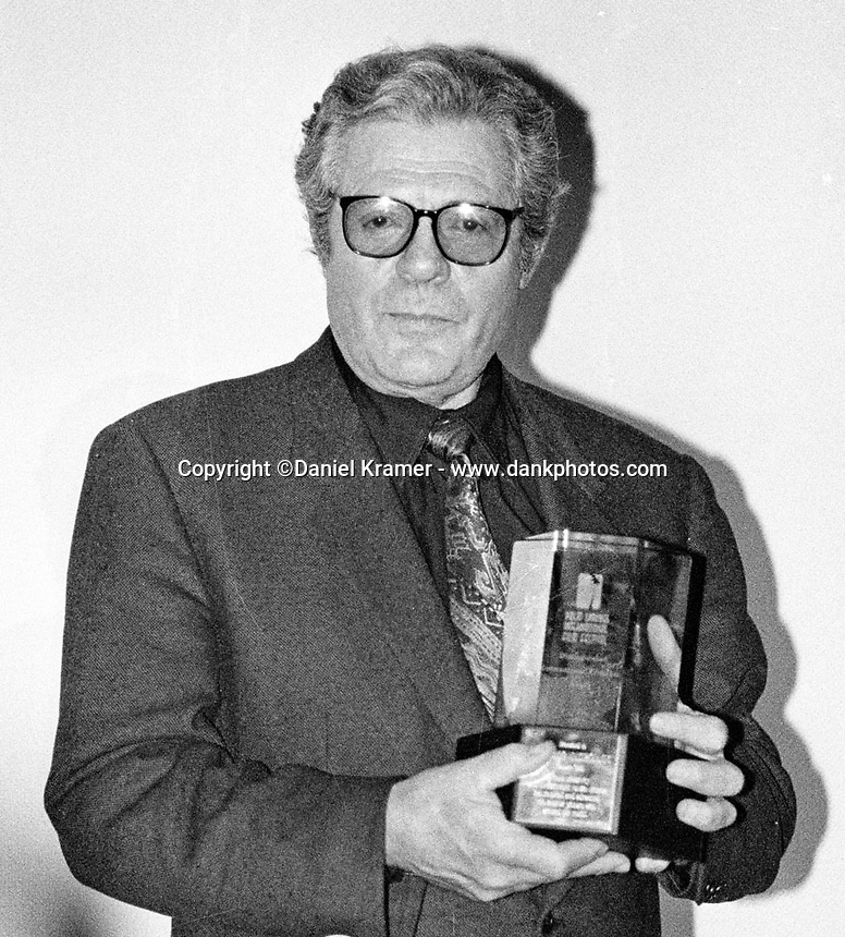 """Marcello Mastroianni, best known for his role in Federico Fellini's 1960 film """"La Dolce Vita"""", was presented with the Distinguished International Filmmaker Award Jan. 16, 1993 at the fourth annual Palm Springs' International Film Festival."""
