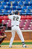 James Harris #22 of the Wake Forest Demon Deacons pinch hits in the completion of the suspended game from March 23rd against the Florida State Seminoles at Wake Forest Baseball Park on March 24, 2012 in Winston-Salem, North Carolina.  The Seminoles defeated the Demon Deacons 5-4 in 11 innings.  (Brian Westerholt/Four Seam Images)