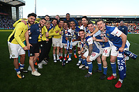 Blackburn Rovers' celebrate promotion<br /> <br /> Photographer Rachel Holborn/CameraSport<br /> <br /> The EFL Sky Bet League One - Blackburn Rovers v Oxford United - Saturday 5th May 2018 - Ewood Park - Blackburn<br /> <br /> World Copyright &copy; 2018 CameraSport. All rights reserved. 43 Linden Ave. Countesthorpe. Leicester. England. LE8 5PG - Tel: +44 (0) 116 277 4147 - admin@camerasport.com - www.camerasport.com