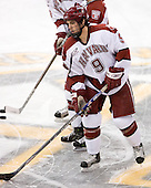 Jimmy Fraser (Harvard - 9) - The Northeastern University Huskies defeated the Harvard University Crimson 3-1 in the Beanpot consolation game on Monday, February 12, 2007, at TD Banknorth Garden in Boston, Massachusetts.