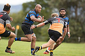Filimone Fifita takes on Cameron Dawson during the Counties Manukau Premier Counties Power Club Rugby Round 2, Game of the Week, between Te Kauwhata and Onewhero, played at Te Kauwhata on Saturday March 17th 2018. <br /> Photo by Richard Spranger.<br /> <br /> Onewhero won the game 43 - 10 after leading 21 - 10 at halftime.<br /> Te Kauwhata EnviroWaste  10 - Lani Latu try,  Caleb Brown 1 conversion, Caleb Brown 1 penalty.<br /> Onewhero 43 - Jackson Orr 2, Ilaisa Koaneti 2, Vaughan Holdt, Zac Wootten, Rhain Strang tries, Vaughan Holdt 4 conversions.