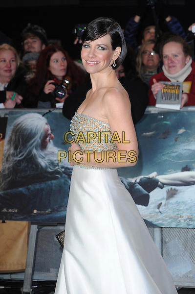 LONDON, ENGLAND - DECEMBER 1: Evangeline Lilly attends The Hobbit: The Battle Of The Five Armies World Premiere at Odeon Leicester Square and Empire IMAX on December 1, 2014 in London, England.<br /> CAP/BEL<br /> &copy;Tom Belcher/Capital Pictures