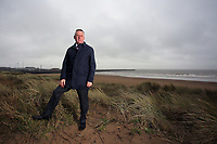 Ioan Jenkins, Development Director of Tidal Lagoon, overlooking Swansea Bay, Wales, UK. Monday 20 March 2017