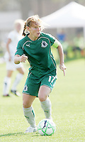 Lori Chalupny...Saint Louis Athletica and LA Sol, played to a 0-0 tie at Robert Hermann Stadium in St Louis, MO. April 25 2009.