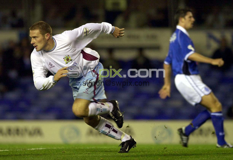 Pix: Ben Duffy....Nationwide First Division Football.....Birmingham v Burnley .....18/09/2001..COPYWRIGHT PICTURE>>SIMON WILKINSON>>01943 436649>>..GOAL....Burnley's Ian Moore wheels away in celebration after scoring his team second goal