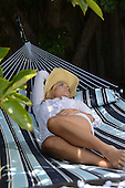 Woman Resting Stock Photo