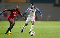 Leiria, Portugal - Tuesday November 14, 2017: Manuel Fernandes, Kellyn Acosta during an International friendly match between the United States (USA) and Portugal (POR) at Estádio Dr. Magalhães Pessoa.