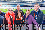 Josephine Roche, Pat O'Keeffe, Louise Roche, MArgaret Roche and John Roche Brosna supporters at the Junior Football All Ireland Club Final in Croke Park on Saturday.