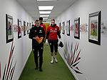 Darren Ward coach leads Jamal Blackman and Simon Moore of Sheffield Utd out for warm up during the Championship match at Bramall Lane Stadium, Sheffield. Picture date 26th December 2017. Picture credit should read: Simon Bellis/Sportimage