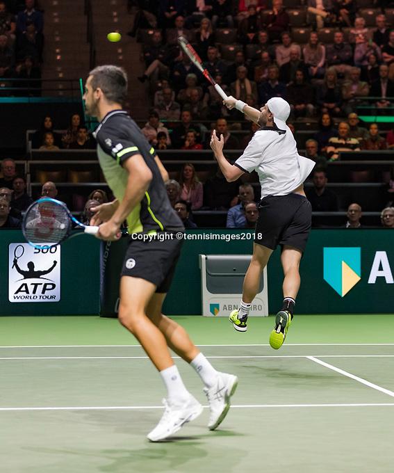 Rotterdam, The Netherlands, 18 Februari, 2018, ABNAMRO World Tennis Tournament, Ahoy, Doubles final, Oliver Marach (AUT) / Mate Pavic (CRO)<br /> <br /> Photo: www.tennisimages.com