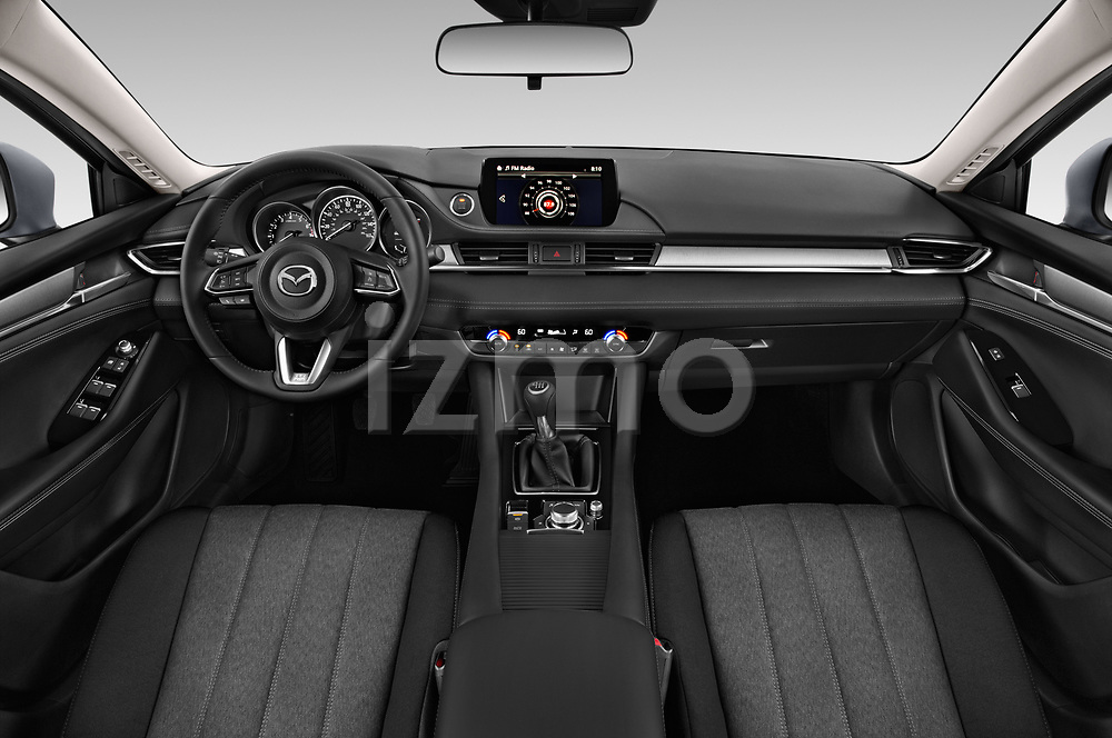 Stock photo of straight dashboard view of a 2018 Mazda Mazda6 Sport 4 Door Sedan