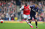 Arsenal's Nicolas Pepe is challenged by West Ham's Pablo Fornals during the Premier League match at the Emirates Stadium, London. Picture date: 7th March 2020. Picture credit should read: Paul Terry/Sportimage