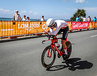 England's Charlie Tanfield  in the mens time trial. Commonwealth Games, Gold Coast, Australia. Tuesday 10 April, 2018. Copyright photo: John Cowpland / www.photosport.nz /SWpix.com /SWpix.com