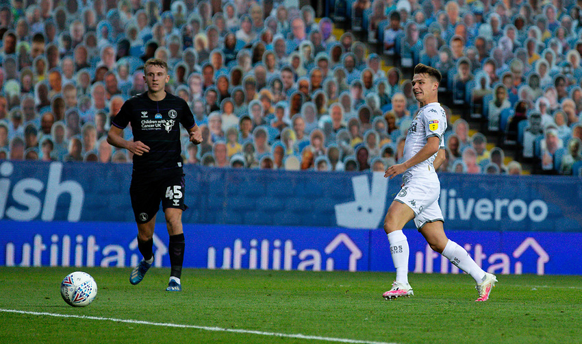 Leeds United's Jamie Shackleton scores his side's fourth goal <br /> <br /> Photographer Alex Dodd/CameraSport<br /> <br /> The EFL Sky Bet Championship - Leeds United v Charlton Athletic - Wednesday July 22nd 2020 - Elland Road - Leeds <br /> <br /> World Copyright © 2020 CameraSport. All rights reserved. 43 Linden Ave. Countesthorpe. Leicester. England. LE8 5PG - Tel: +44 (0) 116 277 4147 - admin@camerasport.com - www.camerasport.com