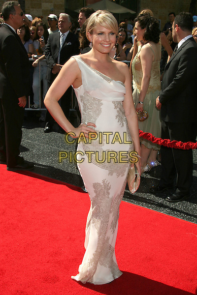 TERI COLOMBINO.34th Annual Daytime Emmy Awards - Arrivals,.Kodak Theatre, Hollywood, California,.USA, 15 June 2007..full length hand on hip silver white one shoulder dress terri.CAP/ADM/BP.©Byron Purvis/AdMedia/Capital Pictures.