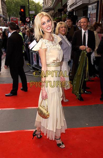 DONNA AIR .Attends the opening night and World Premiere of Billy Elliot the Musical, at the Victoria Palace theatre, London, May 12th 2005..full length gold bag green funny face.Ref: DH.www.capitalpictures.com.sales@capitalpictures.com.©David Hitchens/Capital Pictures.
