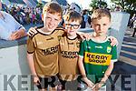 Hugh and Killian Crean and Conor Regan at the Castlegregory Festival Parade on Sunday.
