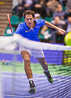 December 21, 2014, Rotterdam, Topsport Centrum, Lotto NK Tennis, Men's Final, Robin Haase (NED)<br /> Photo: Tennisimages/Henk Koster