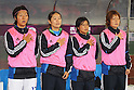 (L to R) Yuki Nagasato, Homare Sawa, Shinobu Ono, Mizuho Sakaguchi (JPN), September 11, 2011 - Football / Soccer : Women's Asian Football Qualifiers Final Round for London Olympic Match between Japan 1-0 China at Jinan Olympic Sports Center Stadium, Jinan, China. (Photo by Daiju Kitamura/AFLO SPORT) [1045]