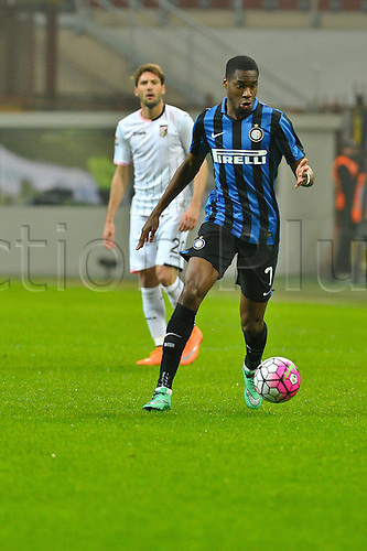 06.03.2016. Milan, Italy.  Geoffrey Kondogbia of FC Inter in action during the Italian Serie A League soccer match between Inter Milan and US città Palermo at San Siro Stadium in Milan, Italy.