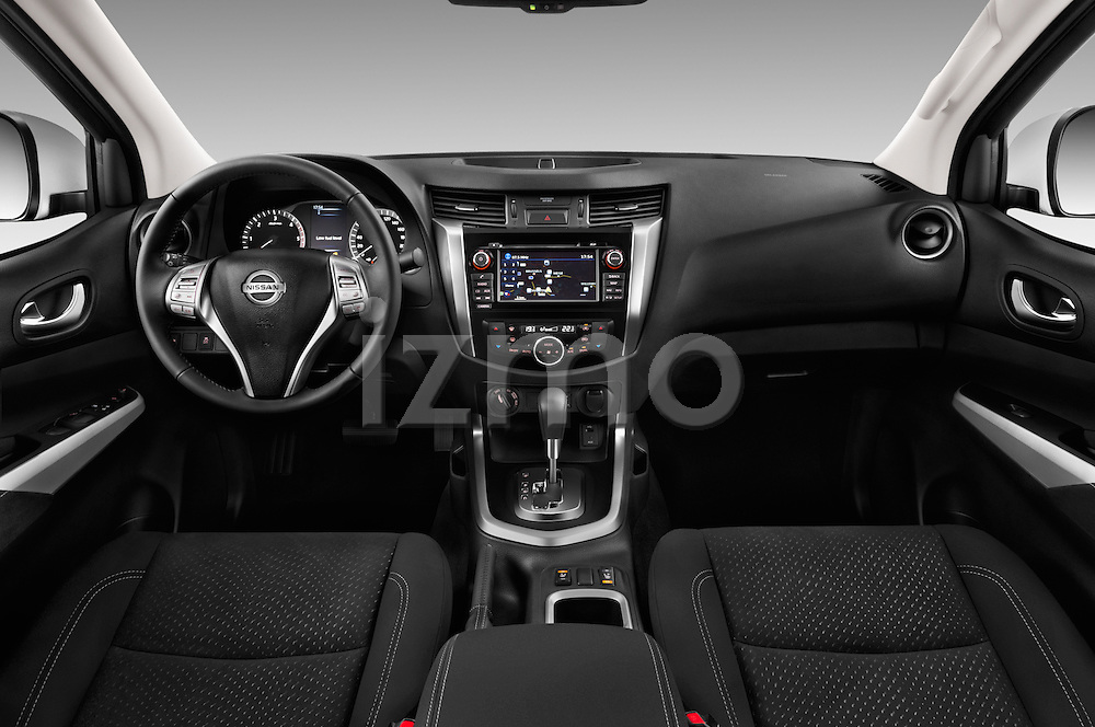 Stock photo of straight dashboard view of 2016 Nissan NP300 Tekna 4 Door Pickup Dashboard