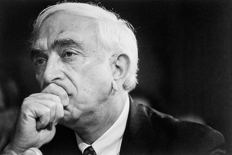 Close-up of Sen. Frank Lautenberg, D-N.J. in July, 1993. (Photo by Maureen Keating/CQ Roll Call)