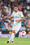 Carlos Henrique Casemiro of Real Madrid in action during their Supercopa de Espana Final 2nd Leg match between Real Madrid and FC Barcelona at the Estadio Santiago Bernabeu on 16 August 2017 in Madrid, Spain. Photo by Diego Gonzalez Souto / Power Sport Images