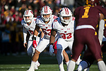 Wisconsin Badgers linebacker T.J. Edwards (53) during an NCAA College Big Ten Conference football game against the Minnesota Golden Gophers Saturday, November 25, 2017, in Minneapolis, Minnesota. (Photo by David Stluka)