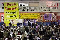 SÃO PAULO, SP, 11.06.2016 -ELEIÇÕES-2016 - Protesto durante durante pré-candidatura a prefeitura de São Paulo de Luiza Erundina na sede do Sindicato dos Bancários de São Paulo (SP) neste sábado, 11. (Foto: Adailton Damasceno/Brazil Photo Press)