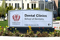 LOS ANGELES - APR 11:  Loma Linda Univeristy School of Dentistry at the Buildings at the Loma Linda University on April 11, 2020 in Loma Linda, CA