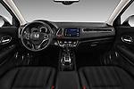 Stock photo of straight dashboard view of 2016 Honda HRV Executive 5 Door Suv Dashboard