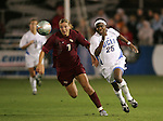 FSU's Viola Odebrecht (7) and UCLA's Danesha Adams (25). The UCLA Bruins defeated the Florida State University Seminoles 4-0 at Aggie Soccer Stadium in College Station, Texas, Friday, December 2, 2005.