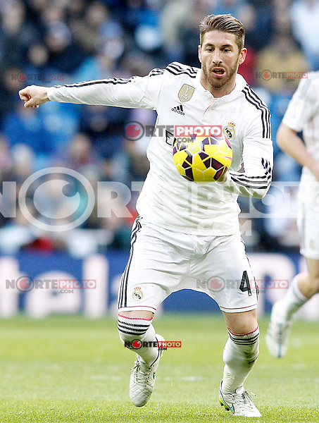 Real Madrid's Sergio Ramos during La Liga match.January 31,2015. (ALTERPHOTOS/Acero) /NortePhoto<br /> /NortePhoto.com