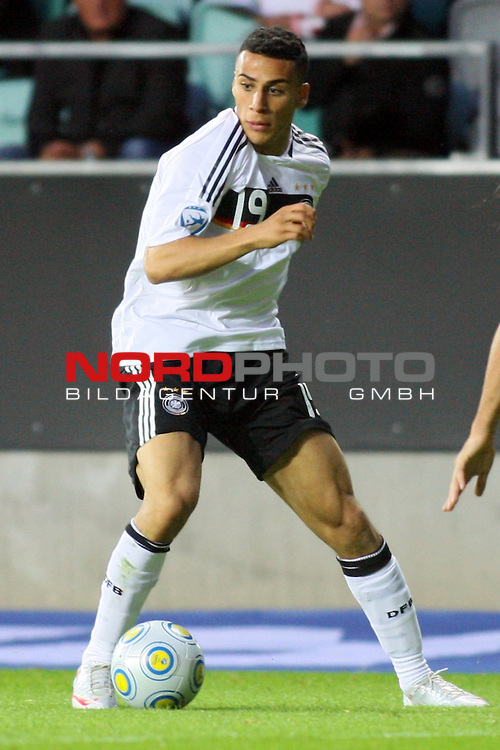UEFA U21 Europameisterschaft / EM Europeen Championship Under 21 2009 Schweden / Sweden - GŲteborg / Gothenborg 15.06.2009 Group B - Matchday 1 Gamla Ullevi Stadion<br /> <br /> Match 2: Spanien / Spain (ESP) vs. Deutschland / Germany (GER) 0:0 (0:0)<br /> <br /> ńnis Ben-Hatira (GER U21 Aenis Hambuger SV / HSV #19).<br /> <br /> Foto &copy; nph ( nordphoto ) *** Local Caption *** *** Local Caption *** <br /> Fotos sind ohne vorherigen schriftliche Zustimmung ausschliesslich fŁr redaktionelle Publikationszwecke zu verwenden.<br /> <br /> Auf Anfrage in hoeherer Qualitaet/Aufloesung