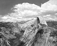"""Clouds Over Half Dome"" <br />