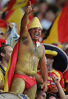 Spanish Fan. Spain defeated Tunisia 3-1 in their FIFA World Cup Group H match at the Gottlieb-Daimler-Stadion, Stuttgart, Germany, June 19, 2006.