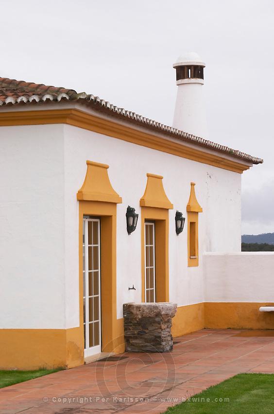 Reception building. J Portugal Ramos Vinhos, Estremoz, Alentejo, Portugal