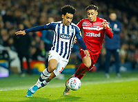 29th December 2019; The Hawthorns, West Bromwich, West Midlands, England; English Championship Football, West Bromwich Albion versus Middlesbrough; Matheus Pereira of West Bromwich Albion beats Marcus Tavernier of Middlesbrough - Strictly Editorial Use Only. No use with unauthorized audio, video, data, fixture lists, club/league logos or 'live' services. Online in-match use limited to 120 images, no video emulation. No use in betting, games or single club/league/player publications