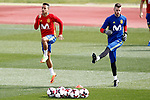 Spain's Thiago Alcantara (l) and David De Gea during training session. March 21,2017.(ALTERPHOTOS/Acero)