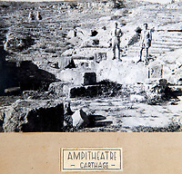 BNPS.co.uk (01202 558833)<br /> Pic: PhilYeomans/BNPS<br /> <br /> Exploring ancient Carthage - destoyed in a much earlier war.<br /> <br /> Unearthed - fascinating unseen archive of cameras, photographs, documents and medals from a British aerial reconnaisance expert who fought all the way through Africa and southern Europe in WW2.<br /> <br /> Flt Lt Eric Cooper from London kept all his wartime paraphernalia, including his K20 handheld camera and stereoscopic plotting instruments until his death in Devon aged 96 in 2012.<br /> <br /> The incredible photographs show bombing raids, amphibious landings and badly damaged aircraft alongside off duty snaps of the campaign throughout the mediterraenean.<br /> <br /> His nephew is now selling the compelling collection at Plymouth Auction Rooms in Devon next week.