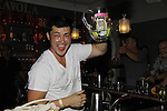 Christopher Sean bartends - Karoake and Bartending at La Tavola Restaurant and Bar where Actors from Y&R, General Hospital and Days donated their time to Southwest Florida 16th Annual SOAPFEST - a celebrity weekend May 22 thru May 25, 2015 benefitting the Arts for Kids and children with special needs and ITC - Island Theatre Co. on May 24, 2015. (Photos by Sue Coflin/Max Photos)