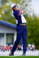 Matt Kuchar (USA) watches his tee shot on 12 during the practice round at the Ryder Cup, Hazeltine National Golf Club, Chaska, Minnesota, USA.  9/29/2016<br /> Picture: Golffile | Ken Murray<br /> <br /> <br /> All photo usage must carry mandatory copyright credit (&copy; Golffile | Ken Murray)