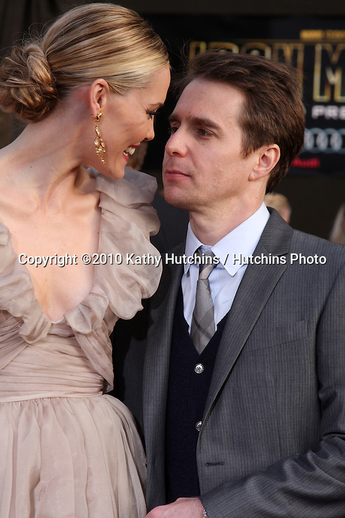 "Leslie Bibb & Sam Rockwell.arrives at  the ""Iron Man 2"" Premiere.El Capitan Theater.Los Angeles, CA.April 26, 2010.©2010 Kathy Hutchins / Hutchins Photo..."